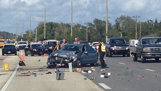 The Florida Highway Patrol is investigating a fatal crash in Palm Shores Thursday.