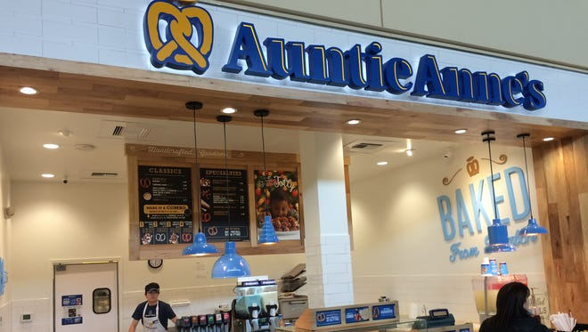 Auntie Anne's pretzels has opened at the Foothills mall in Midtown Fort Collins.