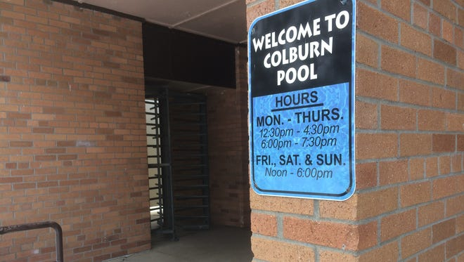 The entrance to Colburn Pool, 1025 S. Fisk St., Green Bay.