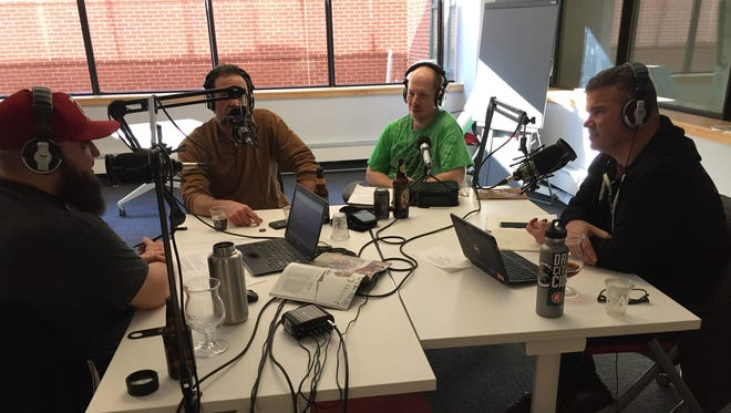 Hosts Jeff Baker and Jason Strempek talk with Jason Stuffle and Dan Hament of Green Mountain Mashers homebrew club during a recording of It's the Beer Talking podcast on February 22, 2017.
