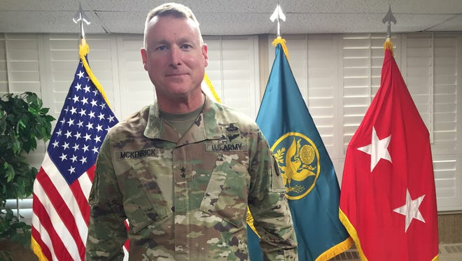 Maj. Gen. Terry McKenrick has led the Brigade Modernization Command and now the Joint Modernization Command since August 2015. He will relinquish command April 25.