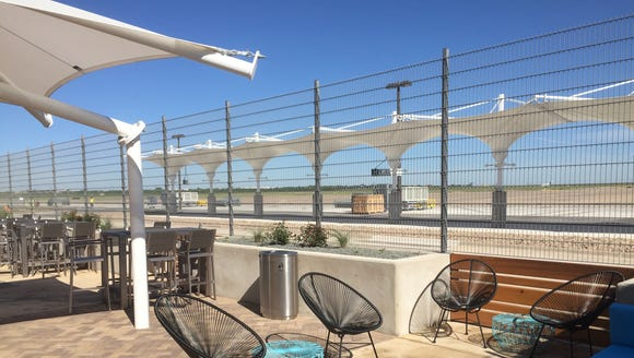 Austin airport's new South Terminal includes an outdoor