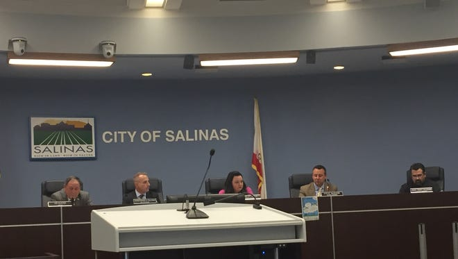 A previous image of Salinas City Council, which heard three separate reports on Tuesday about its budget, pension and benefits plans, along with housing.