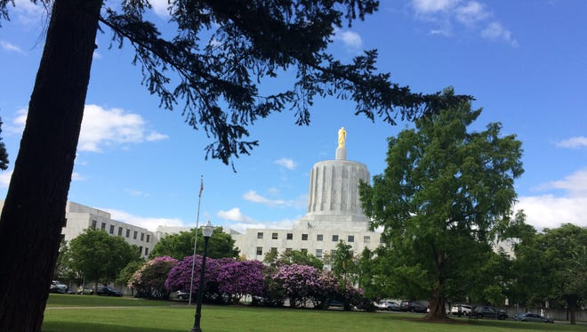 Oregon Capitol in June from the south side.