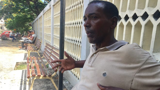 Juan Alberto Menendez, 59, a construction worker in Havana, discusses President Trump's new policy with Cuba on June 16, 2017.
