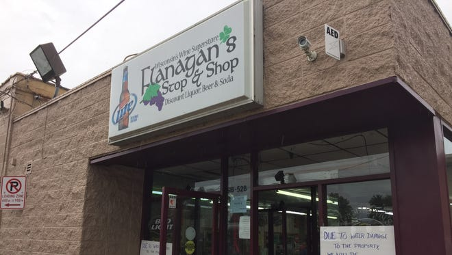 Flanagan's Stop And Shop, 522 W. College Ave. in Appleton, is temporarily closed after part of the building's roof collapsed early Thursday morning.