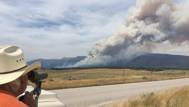 The Arrastra Creek fire off of Highway 200 outside of Lincoln was one of the many wildfires in Montana this year.