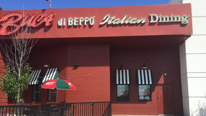 Store front for Buca di Beppo restaurant. It is located in the Southridge Mall, 5300 S. 76th St., Greendale.