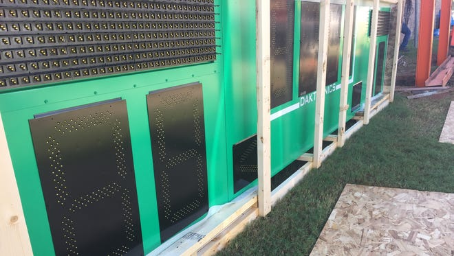FAMU's new fixed-digit scoreboard that'll be up and running in time for homecoming.