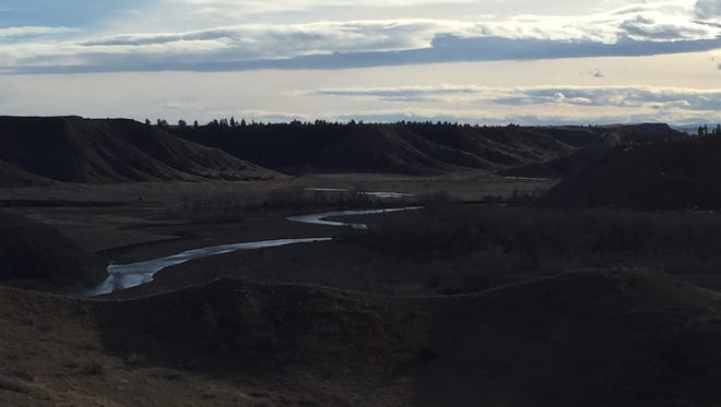 The Judith River running through the Beckman Wildlife Management Area.