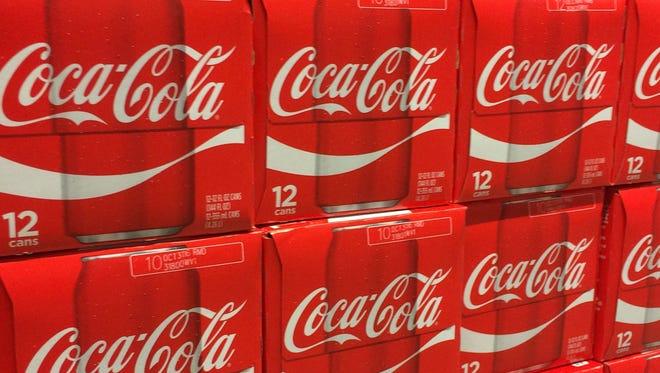 Cases of Coca-Cola