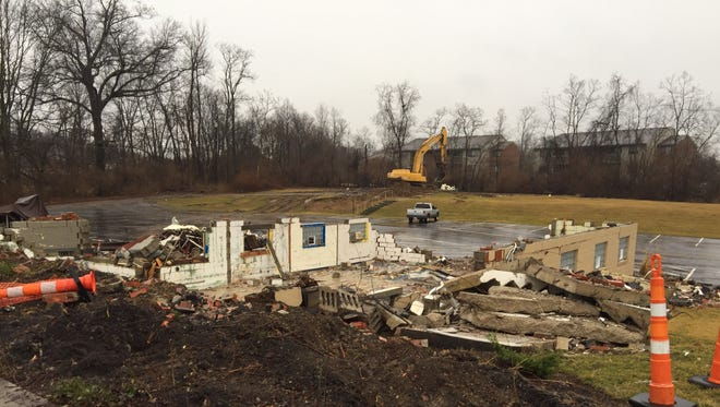 The building Vineyard Christian Fellowship Eastside called home for several years was purchased and demolished by the Union Township Trustees ahead of road work on Old Ohio 74.