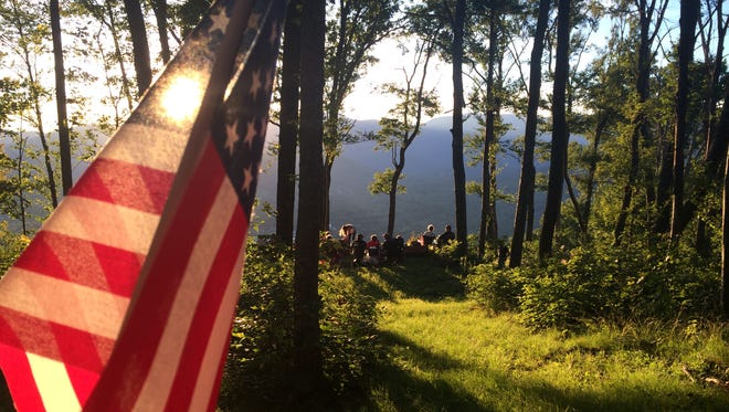 Every July 4, the Swannanoa Valley Museum takes hikers up Sunset Mountain for a view of the town's fireworks.