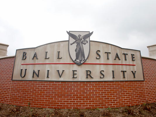 Ball State University sign