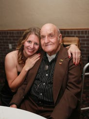 Darah Torres and her grandfather, Ed Shapley.