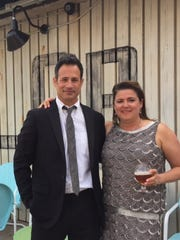 Sam and Mariah Calagione, owners of Dogfish Head Craft Brewery in Milton, pose shortly before the 2015 James Beard Foundation Awards in Chicago. Sam Calagione has been nominated for an award for five consecutive years.