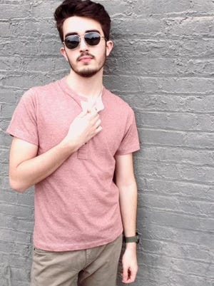 Red Pensacola Henley ($78.00) available at Ethyl 3.9 in NuLu
