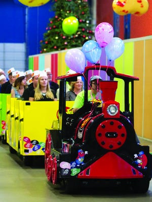 The train is a great way to tour the Jelly Belly warehouse.