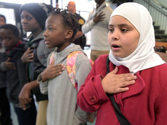 McMurray Middle School refugee student Ghofran Aladallah,