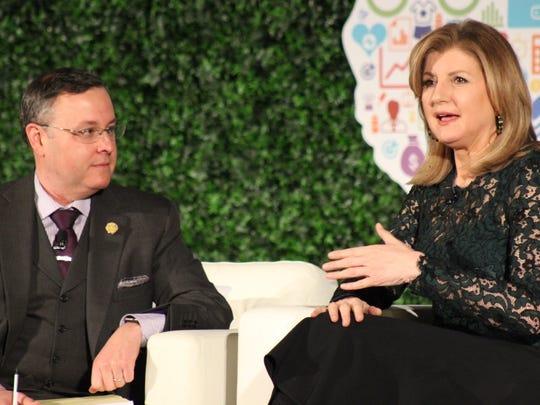 Arianna Huffington, founder of Thrive Global, talks