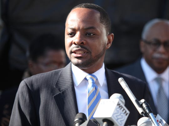 Former Wilmington City Councilman Darius Brown speaking at an event in 2016.