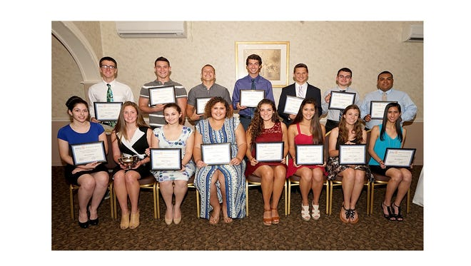 Some of the students who received scholarships from the Rotary Club of Vineland during its recent scholarship dinner, where $22,000 in scholarships were announced.