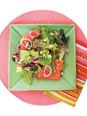 Watermelon and Baby Greens Salad