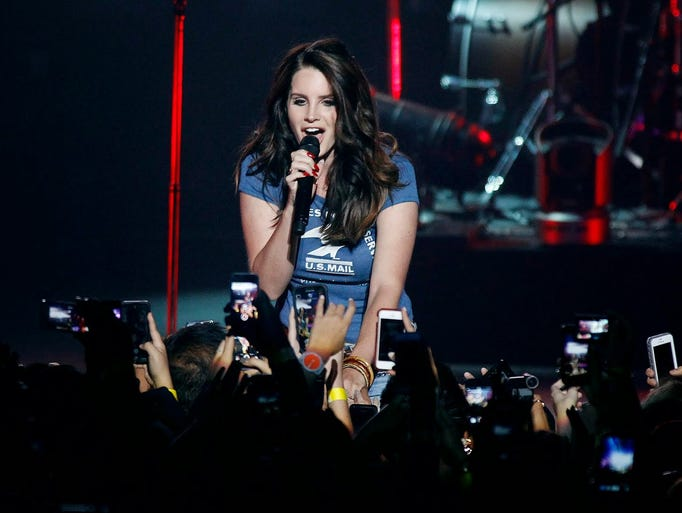 Lana Del Rey performs during her North America 2014 tour at Comerica Theatre in Phoenix on Tuesday, April 15, 2014. CQ (Ralph Freso/Special to azcentral.com)