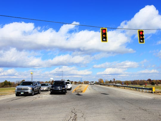 With ODOT set to replace and widen the Ohio 310-Interstate 70 interchange bridge, pictured here, starting in 2016, Etna Township officials now are focusing their attention on widening Ohio 310 to U.S. 40.