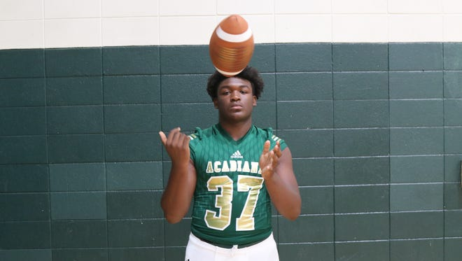 Acadiana HIgh defensive end Darryius Elliott is one of three new starters on the Rams' defensive line.
