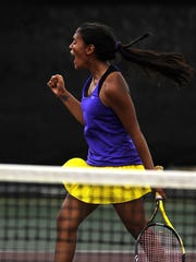 Wylie's Shruti Patel celebrates after winning a point