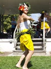 A dancer at Two Rivers' Ethnic Fest in 2015. This year's