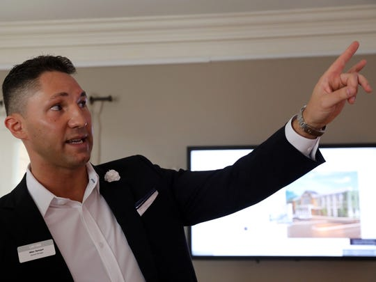 General manager Mike Spiegel discusses the new Life Time Athletic at the preview center in Chappaqua Crossing July 30, 2018. About 200 founding memberships have already been soldÊbefore the fitness center's fall opening.