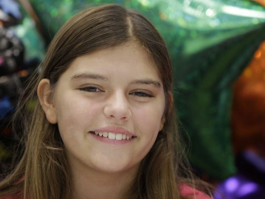 Kali Hardig, 12, who survived a rare and often fatal infection caused by a brain-eating amoeba