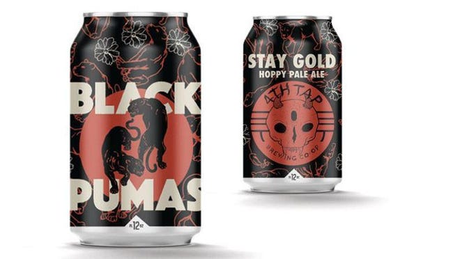 The new Stay Gold pale ale from 4th Tap, in collaboration with the band the Black Pumas, will be in stores around the state on August 7.