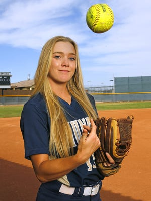 Big Schools Softball Player of the Year, Phoenix Desert Vista's Mara Kemmer Saturday, May 21, 2016 in Phoenix, Ariz.