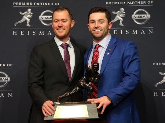 Oklahoma coach Lincoln Riley and Heisman-winning quarterback