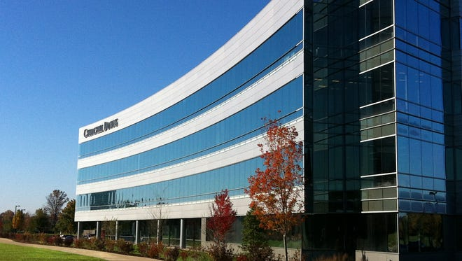 The exterior of the North Hurstbourne Parkway building where Churchill Downs Inc.'s corporate headquarters is located.