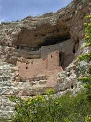 This five-story structure in an alcove at Montezuma Castle National Monument was built by Sinagua Indians.