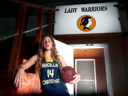 Aucilla Christian senior guard/forward Camryn Grant is the 2018 All-Big Bend Defensive Player of the Year in girls basketball after averaging 18.2 points, 11.1 rebounds, 4.1 assists, 3.9 steals and 2.2 blocks per game during the Warriors' 22-6 season. Grant became a two-time winner of the award after recording 15 doubles-doubles while leading Aucilla to its second straight trip to the Class 2A state tournament.