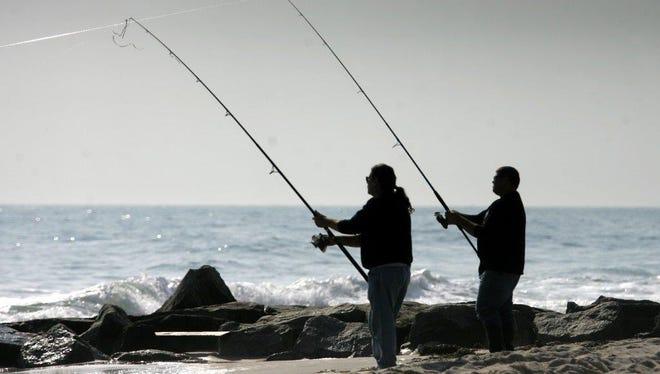 Surf fishermen in Beach Haven.