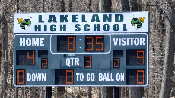 Lakeland High School scoreboard.