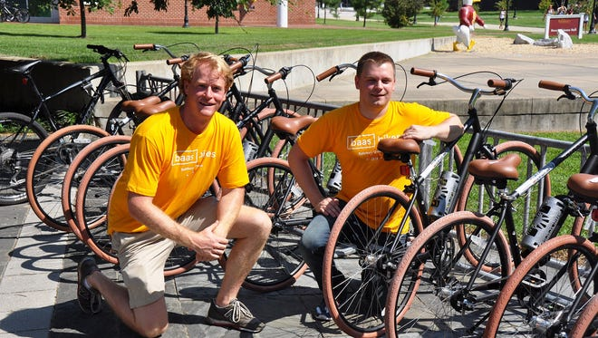 Rob McPherson and Justin Mulineaux of Baas Bikes. The program was introduced at Salisbury University in fall 2016.