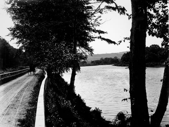 The Towpath along the Chenango River, about 1920.