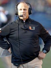 Miami Hurricanes head coach Mark Richt.