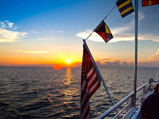 Pure Florida has a sunset cruise offered in Fort Myers and Naples tonight.