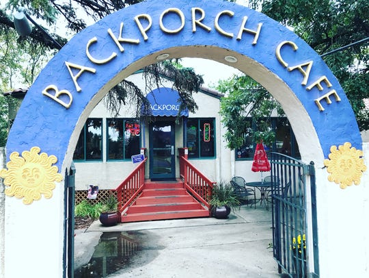 The Backporch Cafe operated out of an old house.