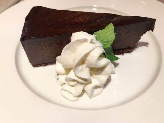A slice of chocolate cake at Kitchen.