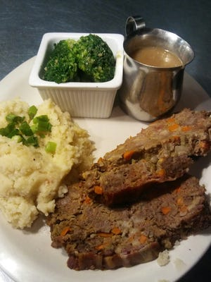 The  Irish meat loaf at Archie's Bar & Grill is prepared with Murphy's Stout, along with ground beef, corned beef, carrots, celery and 18 other ingredients.