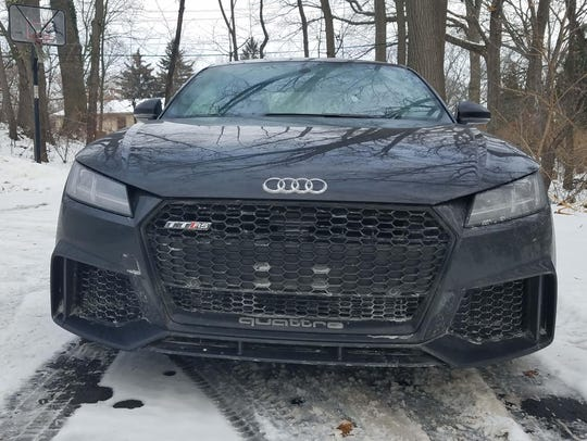 The Audi TT RS gains a fiercer, honeycomb maw to feed